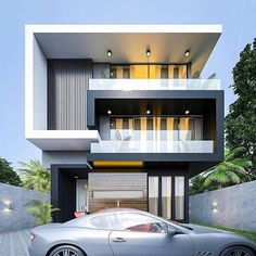Most 50 Beautiful House Design For 2020 - Engineering Discoveries Best Modern House Design, Modern Exterior House Designs, Bungalow House Design, House Front Design, Dream House Exterior, Modern Architecture House, Small House Design, Modern House Plans, Exterior Design
