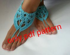 Free Easy yoga Patterns | Barefoot sandal crochet pattern, an klet,barefoot sandals, pdf crochet ...