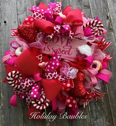 A personal favorite from my Etsy shop https://www.etsy.com/listing/582589631/love-is-sweet-wreath-valentines-day