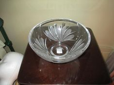 Lovely Waterford Marquis Crystal ~ Coventry Bowl ~ New With Tags ~ Great Gift! Waterford Marquis, Waterford Crystal, Coventry, Candlesticks, Vintage Men, Pink And Green, Great Gifts, Mint, Crystals
