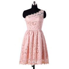 pearl pink bridesmaid dresses short lace от StarCustomDress