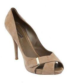 170.00$  Buy now - http://viues.justgood.pw/vig/item.php?t=ttn9gj1677 - Louis Vuitton Grey Suede Heels, Size 40