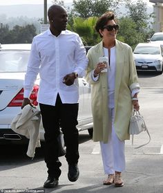 Tagging along: Kris Jenner was seen attending a morning church service with toyboy Corey G...