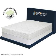 Special Offers - Best Price Mattress 8 Pocket Coil Spring Mattress and New Innovative Box Spring Set Full White - In stock & Free Shipping. You can save more money! Check It (September 09 2016 at 02:47AM) >> http://adjustablebedusa.net/best-price-mattress-8-pocket-coil-spring-mattress-and-new-innovative-box-spring-set-full-white/