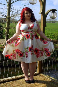 BBW Couture - Rose Vine 1950s Vintage Party Dress