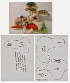 Discussion on LiveInternet - Russian Online Diary Service Bunny Crafts, Easter Crafts, Felt Crafts, Diy Crafts, Felt Animal Patterns, Stuffed Animal Patterns, Baby Sewing Projects, Sewing Patterns For Kids, Primitive Patterns