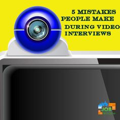 Treat video job interviews like any other in-person interview. View the five most common mistakes people make Window Graphics, Job Interviews, Job Search, Mistakes, Career, Advice, Tips, People, How To Make