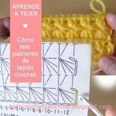 Todo crochet: Aprende a comprender un gráfico de crochet paso  a...