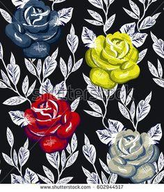 rose flower pattern Elephant Tapestry, Pattern Illustration, Stock Foto, My Design, Abstract Backgrounds, Rose, Illustrator, Flowers, Animals
