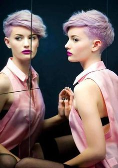 hair, style, and pink resmi
