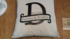 Couples throw pillow for wedding