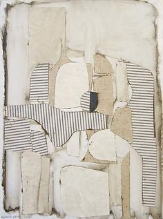 "weatherwax: "" Conrad Marca-Relli, Figure Seated, 1960 Oil and collage on canvas, 32 x 25 inches """