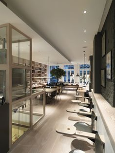 Poilane in London and Dinesen HeartOak tables