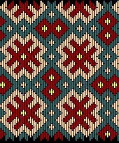 Medieval Pattern – All Tapestry Crochet Broderie Bargello, Bargello Needlepoint, Needlepoint Stitches, Bargello Patterns, Tapestry Crochet Patterns, Weaving Patterns, Cross Stitch Embroidery, Embroidery Patterns, Cross Stitch Patterns