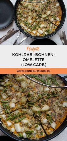#lowcarb #omelette #rezept #bohnen #kohlrabi #dinner4friends #eierspeise