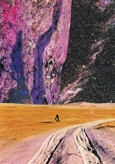 """""""The Shadow of the Cypress (The Calling),"""" surreal collage by Alexandre Coll 