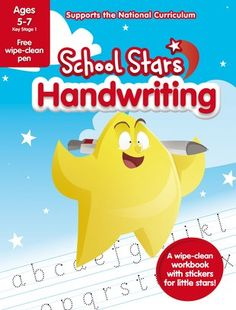 Want to shine bright in school? Our School Stars learning helpers are packed with amazing extras that give you the edge in class. Such as this book: with lovely bright stickers and wipe-clean activities to help you perfect your handwriting. First you have to form the letters. Then you make them look neat. And you might even want to join them together. Luckily, these colourful activities make it really easy. Wipe away mistakes and have fun trying again! Home Learning, Early Learning, National Curriculum, Nice Handwriting, Starting School, Make New Friends, Book Club Books, Little Star, Primary School