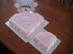 SuperGirl Cake...loving the border
