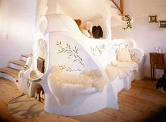 Story like beautiful white cob house living room interior - Decor Craze Cob House Interior, Living Room Interior, Home Living Room, Home Interior Design, Cob House Plans, Adobe Haus, Cob Building, Green Building, Earth Bag Homes