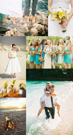 I love surf and sand. Beautiful Beach wedding inspiration