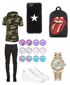 """""""Untitled #18"""" by maribeltheflower on Polyvore featuring Balmain, Balenciaga, Givenchy, Rolex, men's fashion and menswear"""