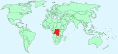 The red shows where the Democratic Republic of the Congo is. I also have a blog post about the DRC: http://jgold109period1.blogspot.com/2015/10/democratic-republic-of-congo.html