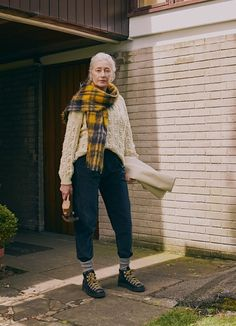 We meet Danielle Chiel, the founder of KOCO, which aims to empower women living in rural India. Hand Knitted Sweaters, Mohair Sweater, Androgynous Fashion, Autumn Winter Fashion, What To Wear, Street Style, Style Inspiration, My Style, Casual
