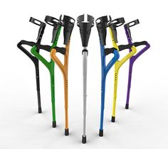 PLAS-STICKS Eco Crutch by David Carl Johnson - The PLAS-STICKS Eco Cruch is the stronger, lighter, cheaper, just plain cooler-looking alternative to the conventional crutch. For starters, the design has a 332:1 weight-to-strength ratio as apposed to the 228:1 ratio of conventional metal crutches. Read more at http://www.yankodesign.com/2014/12/29/a-cooler-crutch/#FIE8tWuczxsHfoih.99