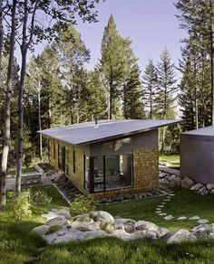 Fish Creek Guest House, a small modern house by Carney Logan Burke Architects; 2 bedrooms in 950 sq ft (88 m2)