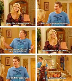 Hahahah Reba is such a funny and good tv show. I love Van and Cheyenne.