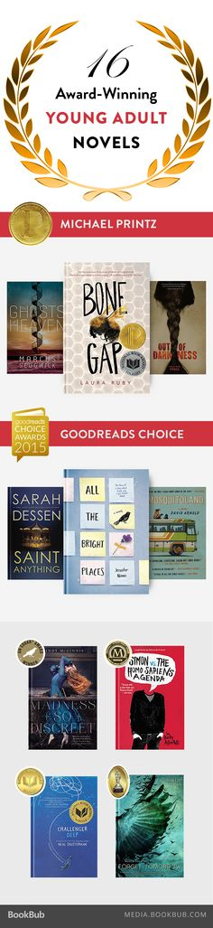 16 award-winning teen novels to read with your book club.