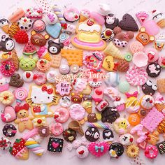 Decoden Sweets Deco Resin Kawaii Cabochon Assortment Assorted Pack Sophie & Toffee Sweets Starter Pack (20pcs) on Etsy, $9.74