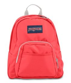 Small and light, the JanSport Half Pint is the perfect throw-on-and-go backpack. Features include a front utility pocket and key clip.