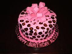 Cheetah Print Cakes | Cheetah Print Hot Pink Cake — Birthday Cakes