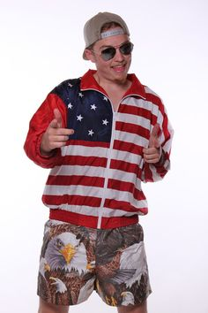 American Flag Windbreaker Jacket | Get your USA gear and all manner of outrageous threads at Shinesty.com