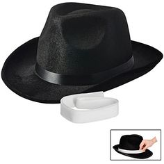 ZeroShop 1920s Mens Accessory Set Manhattan Fedora Hat 1a33124ebefa