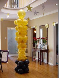 Oscars balloon sculpture tower2.