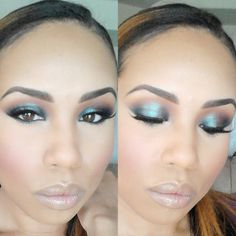 MAC Blue Brown Pigment and Brown Script in the crease. @beautifullymua