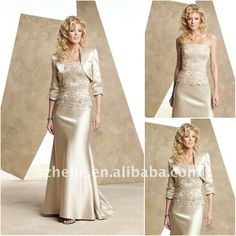 Mother of Bride/Groom, shinning light golden mother of the bride satin ...