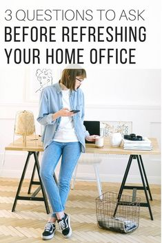 Home Office Ideas from The Wardrobe Stylist. Home office inspiration and setup to get started on by asking fundamental questions on your work from home arrangement. Home office decor and design to suit your needs. #HomeOffice #WorkFromHome #OfficeDecor