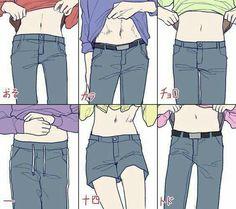 Ichimatsu is insecure about his stomach and I feel that way too personally Karamatsu probably contours his abs on (or he has a really hot bod) Kuroko, Manga Anime, Anime Art, Junjou, Couples Anime, Osomatsu San Doujinshi, Gekkan Shoujo, Ichimatsu, Hot Anime Guys