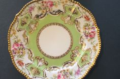 "VictorianHighTea.com collection. Four Limoges France Elite Works Hand Painted 8.5"" Plates Heavy Gold #LIMOGESFRANCEELITEWORKS"
