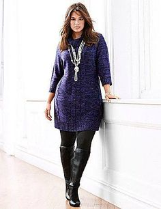 Cowl Neck Plus Size Sweater Dress from Lane Bryant Plus Size Sweater Dress, Cowl Neck Sweater Dress, Plus Size Sweaters, Long Sweaters, Sweater Dresses, Knit Dress, Hipster Outfits, Curvy Girl Outfits, Fashion Outfits