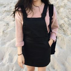 girl, black, and pink image
