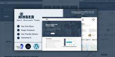 Kinger - Smart Business WordPress Theme by ThemeHolder Creative Portfolio, Personal Portfolio, Website Themes, Portfolio Website, Corporate Business, Best Wordpress Themes, Clean Design, Purpose, Web Design