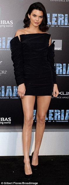 Daring to bare: Cara Delevingne and Kendall Jenner stole the show together at the Hollywood premiere for Valerian Monday night