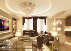 Family Room by ALGEDRA Interior Design http://algedra.ae/en/blog/family-room