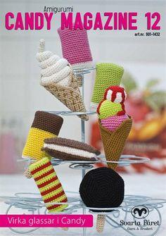 Bild på Virkmönstermagasin med virkade glassar i Candy