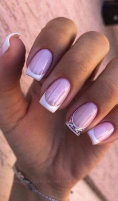 Square Nail Designs, Pretty Nail Designs, Pretty Nail Art, Cute Toenail Designs, Latest Nail Designs, Best Nail Art Designs, French Manicure Nails, French Tip Nails, Gel Nails
