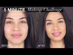 TUTORIAL | 5 Minute Makeup Challenge! | Eman